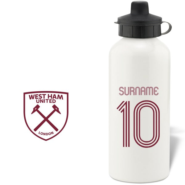West Ham United FC Retro Shirt Water Bottle