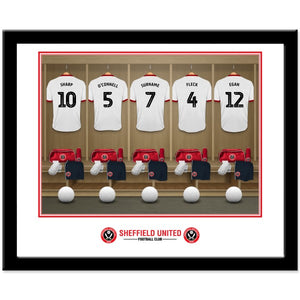 Sheffield United FC Dressing Room Framed Print