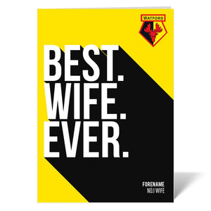 Watford FC Best Wife Ever Card