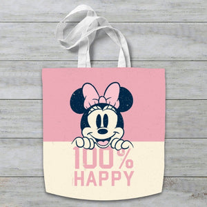 Disney Minnie Mouse 100% Happy Tote Bag
