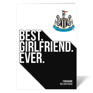 Newcastle United FC Best Girlfriend Ever Card