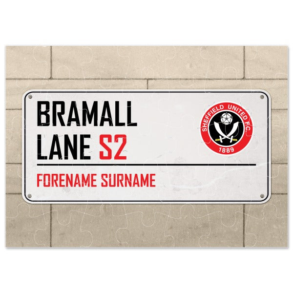 Sheffield United FC Street Sign Jigsaw
