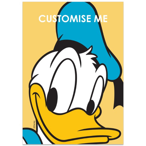 Personalised Disney Mickey Mouse and Friends Donald A4 Poster