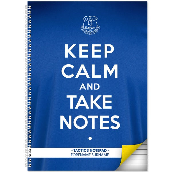 Everton FC Keep Calm Notebook