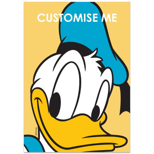 Personalised Disney Mickey Mouse and Friends Donald A2 Poster