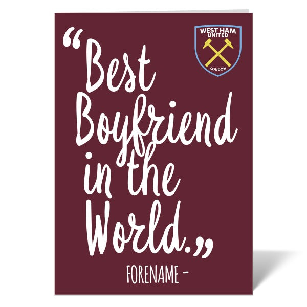 West Ham United FC Best Boyfriend In The World Card