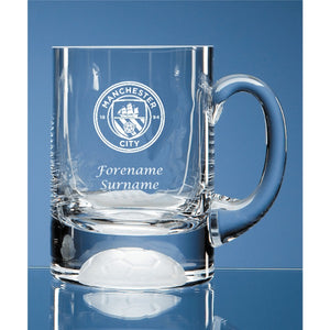 Manchester City FC Personalised Crest Ball Base Tankard