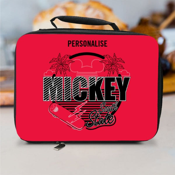 Disney Mickey Mouse South StatePersonalised Lunch Bag - Black