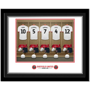 Sheffield United FC Dressing Room Photo Framed
