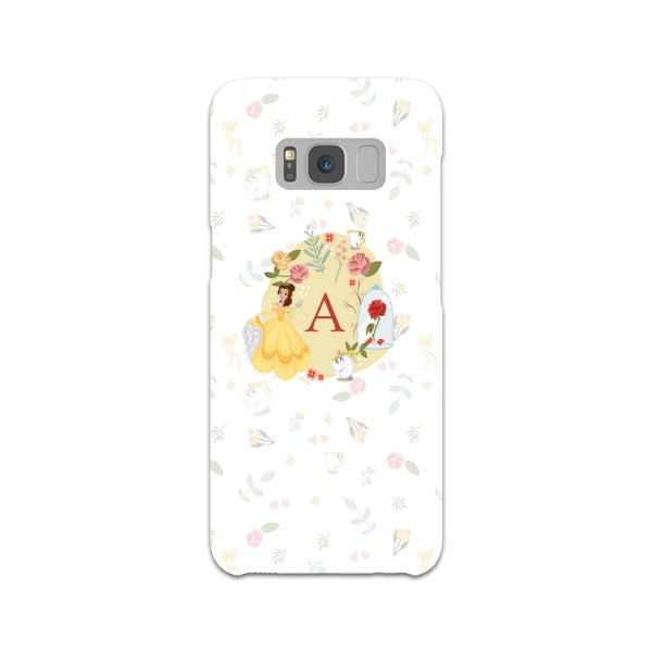 Disney Princess Belle Initial Samsung Galaxy S8 Hard Back Phone Case