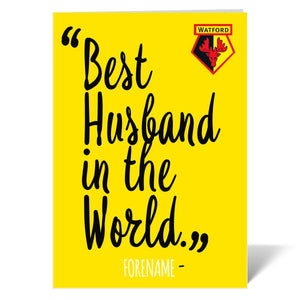 Watford FC Best Husband In The World Card