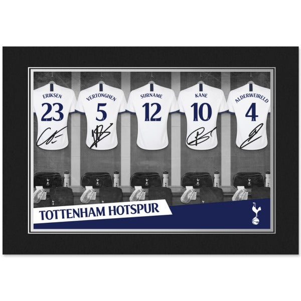 Tottenham Hotspur 9x6 Dressing Room Photo Folder