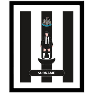Newcastle United FC Player Figure Print
