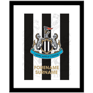 Newcastle United FC Bold Crest Print