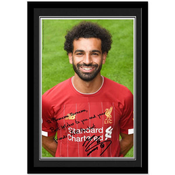 Liverpool FC Salah Autograph Photo Framed
