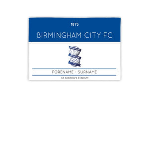 Birmingham City Minimal Ticket 3ft x 2ft Banner