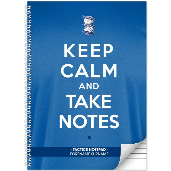 Birmingham City FC Keep Calm Notebook
