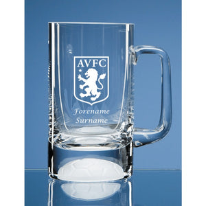 Aston Villa FC Crest Half Pint Ball Base Tankard