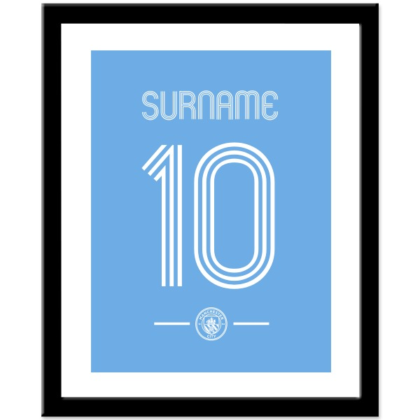 Manchester City FC Retro Shirt Print