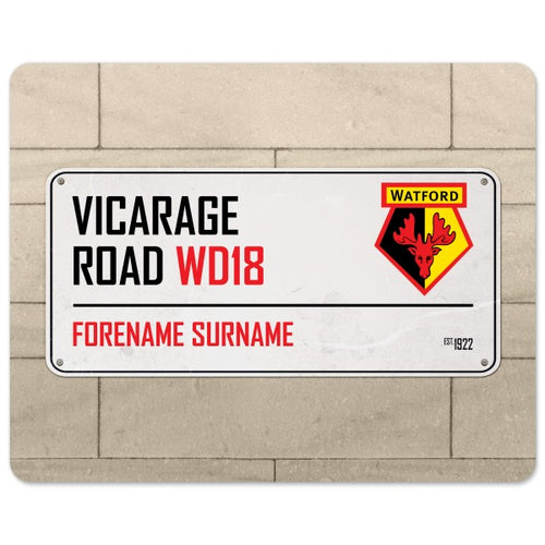 Watford FC Street Sign Mouse Mat