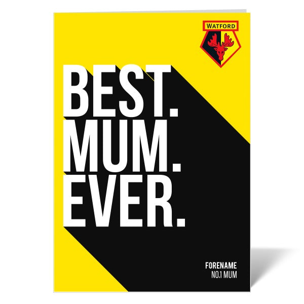 Watford FC Best Mum Ever Card