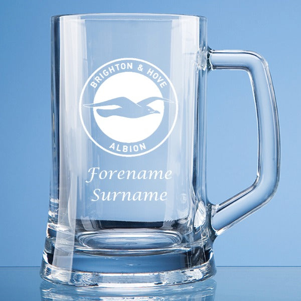 Brighton & Hove Albion FC Crest Large Plain Straight Sided Tankard