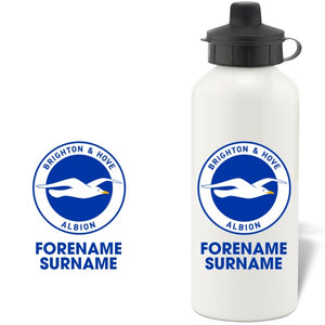 Brighton & Hove Albion FC Bold Crest  Water Bottle