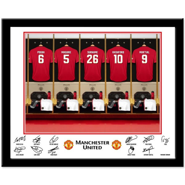 Manchester United FC Dressing Room Framed Print