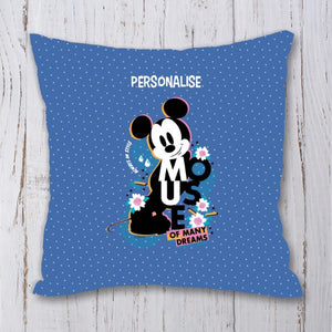 Disney Mickey Mouse Many Dreams Personalised Cushion