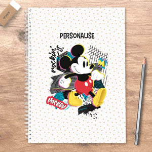 Disney Mickey Mouse Rockin' It Personalised A5 Notebook