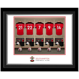 Southampton FC Dressing Room Photo Framed