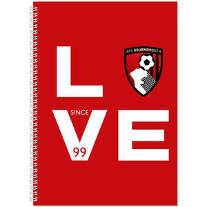 AFC Bournemouth Love Notebook