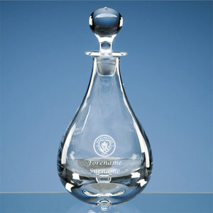 Manchester City FC Personalised Crest Wine Decanter