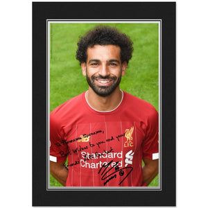 Liverpool FC Salah Autograph Photo Folder