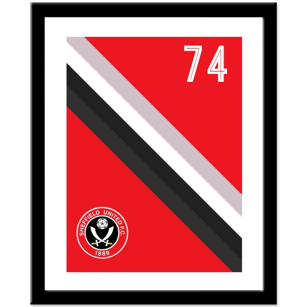 Sheffield United FC Stripe Print