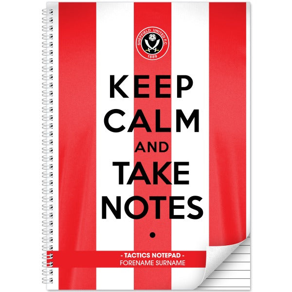 Sheffield United FC Keep Calm Notebook