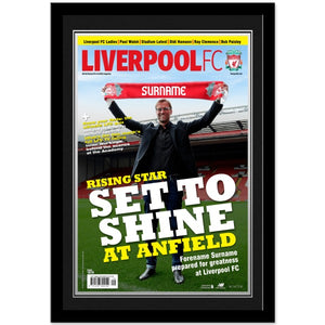 Liverpool FC Magazine Front Cover Photo Framed