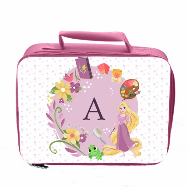 Disney Princess Rapunzel Initial Pink Lunch Bag