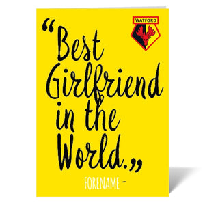 Watford FC Best Girlfriend In The World Card