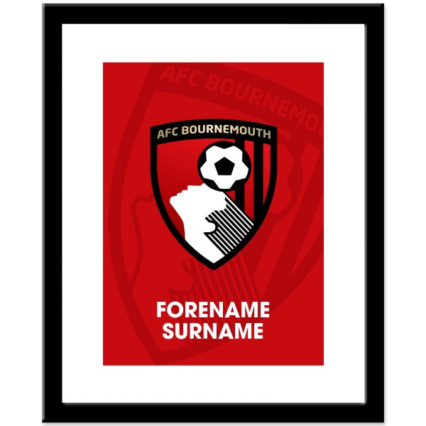 AFC Bournemouth Bold Crest Print