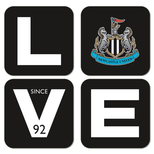 Newcastle United FC Love Coasters (x4)