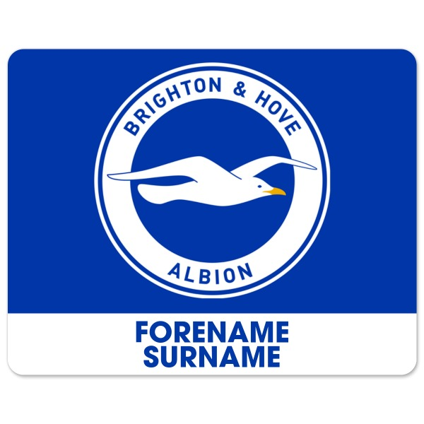 Brighton & Hove Albion FC Bold Crest Mouse Mat