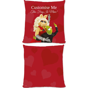 Disney The Muppets Kermit And Miss Piggy This Frog Is Mine Large Fiber Cushion