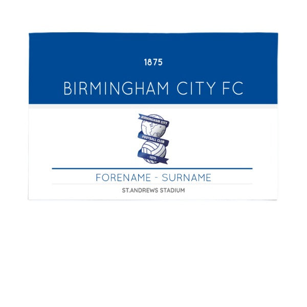 Birmingham City Minimal Ticket 6ft x 4ft Banner