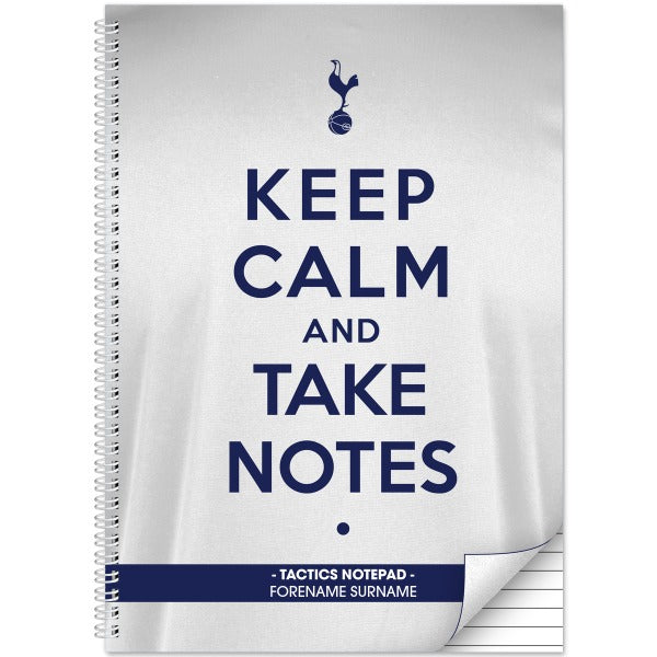 Tottenham Hotspur Keep Calm Notebook