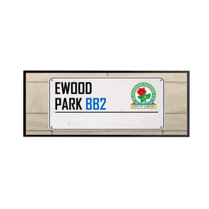 Blackburn Rovers Street Sign Regular Bar Runner