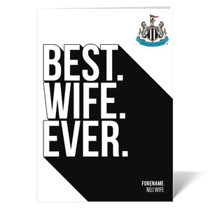 Newcastle United FC Best Wife Ever Card