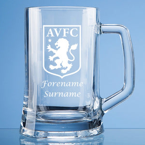 Aston Villa FC Crest Large Plain Straight Sided Tankard