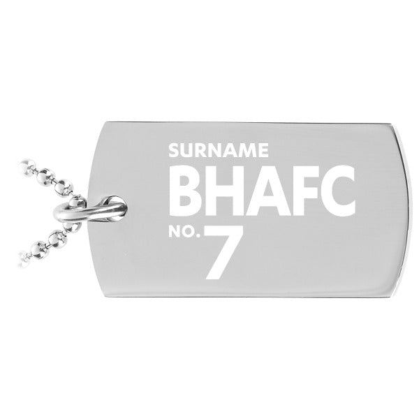 Brighton & Hove Albion FC Number Dog Tag Pendant