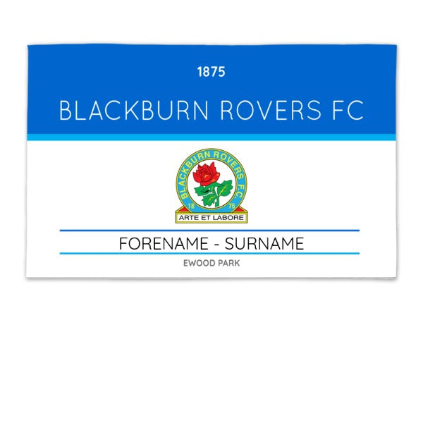 Blackburn Rovers Minimal Ticket 8ft x 5ft Banner